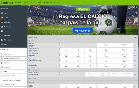 Codere el preferido para las apuestas deportivas Screenshot