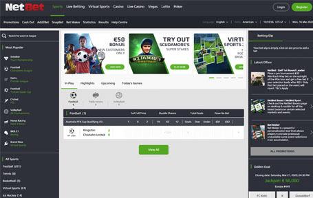 Netbet,¡Un sitio para apostar y disfrutar Colombia! Screenshot